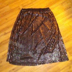 New directions Black pleated skirt